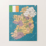 "Vintage Map of Ireland Jigsaw Puzzle<br><div class=""desc"">This design features a vintage map of Ireland.</div>"