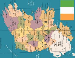 Interactive Jigsaw Map Of Ireland.Irish Jigsaw Puzzles Zazzle