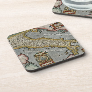 Vintage Map of Italy (1584) Coaster