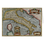 Vintage Map of Italy (1584) Greeting Card