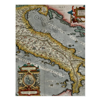 Vintage Map of Italy (1584) Postcard