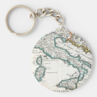 Vintage Map of Italy (1706) Basic Round Button Keychain