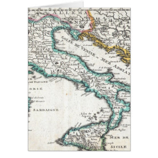 Vintage Map of Italy (1706) Card