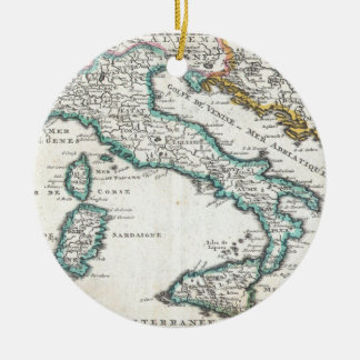 Vintage Map of Italy (1706) Ceramic Ornament