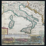"Vintage Map of Italy (1706) Cloth Napkin<br><div class=""desc"">This is a vintage map of Italy produced in 1706.</div>"