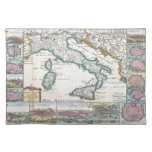 Vintage Map of Italy (1706) Cloth Placemat
