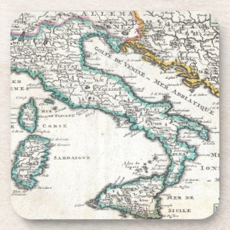 Vintage Map of Italy (1706) Coasters