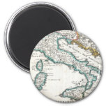 Vintage Map of Italy (1706) Fridge Magnet