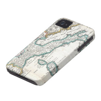 Vintage Map of Italy (1706) iPhone 4 Covers