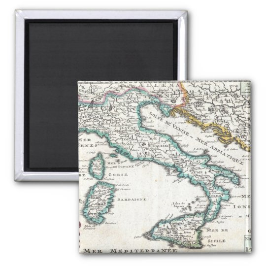 Vintage Map of Italy (1706) Magnet
