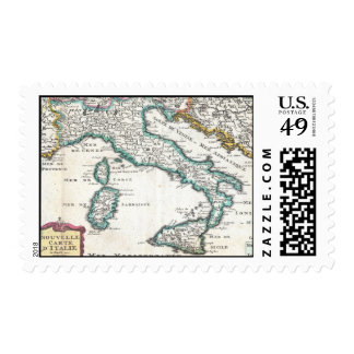 Vintage Map of Italy (1706) Stamp