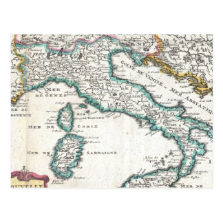 Vintage Map of Italy (1706) Postcard