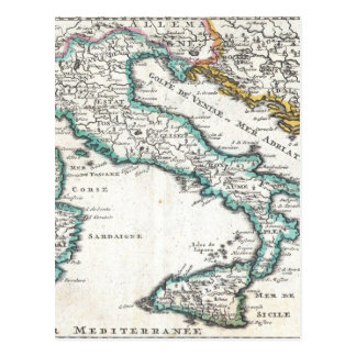 Vintage Map of Italy (1706) Post Cards