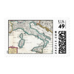 Vintage Map of Italy (1706) Stamps