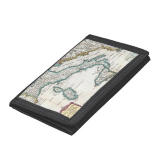 Vintage Map of Italy (1706) Tri-fold Wallets