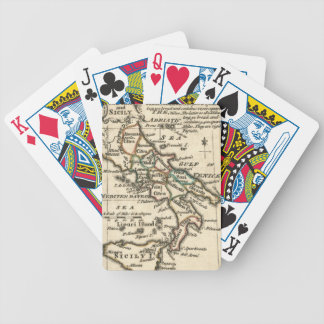 Vintage Map of Italy (1758) Bicycle Playing Cards