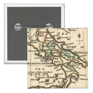 Vintage Map of Italy (1758) Button