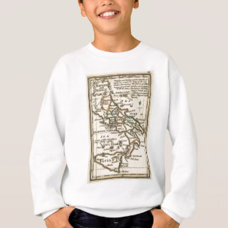 Vintage Map of Italy (1758) Sweatshirt