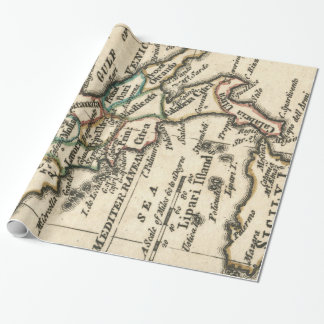 Vintage Map of Italy (1758) Wrapping Paper
