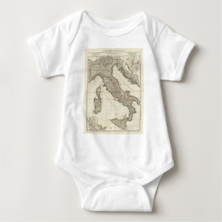 Vintage Map of Italy (1764) Baby Bodysuit