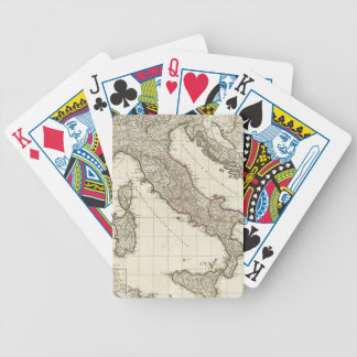 Vintage Map of Italy (1764) Bicycle Playing Cards