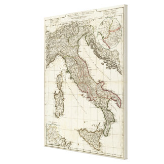 Vintage Map of Italy (1764) Canvas Print