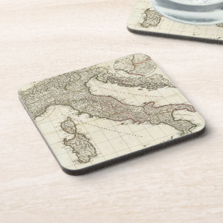 Vintage Map of Italy (1764) Beverage Coasters