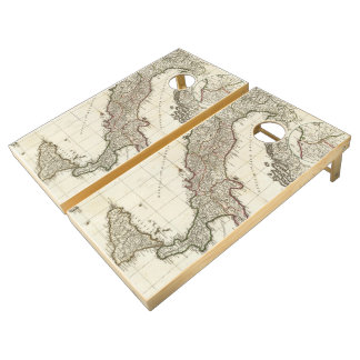 Vintage Map of Italy (1764) Cornhole Set
