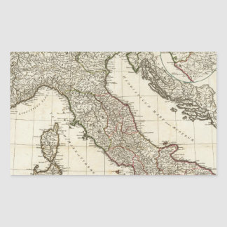 Vintage Map of Italy (1764) Rectangular Sticker