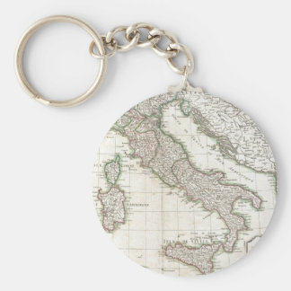Vintage Map of Italy (1770) Basic Round Button Keychain