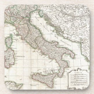 Vintage Map of Italy (1770) Beverage Coaster