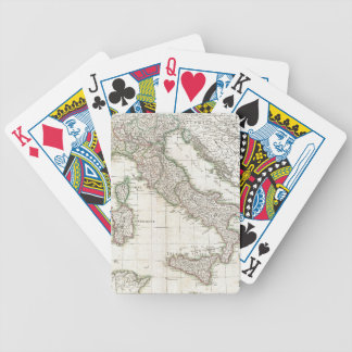 Vintage Map of Italy (1770) Bicycle Playing Cards