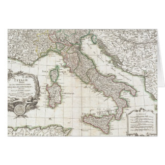 Vintage Map of Italy (1770) Cards