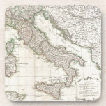 Vintage Map of Italy (1770) Drink Coasters