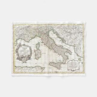 Vintage Map of Italy (1770) Fleece Blanket