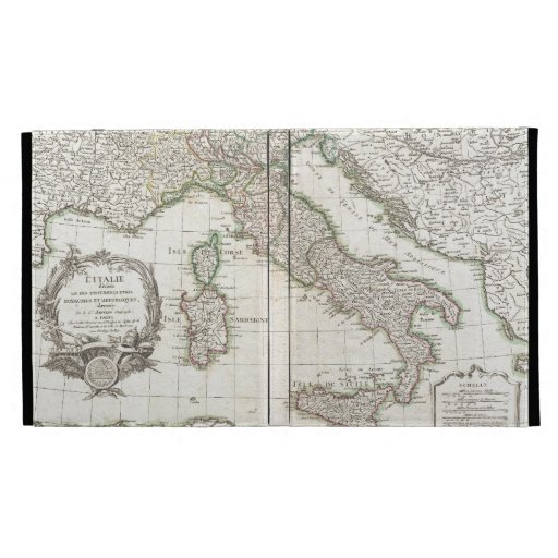 Vintage Map of Italy (1770) iPad Case