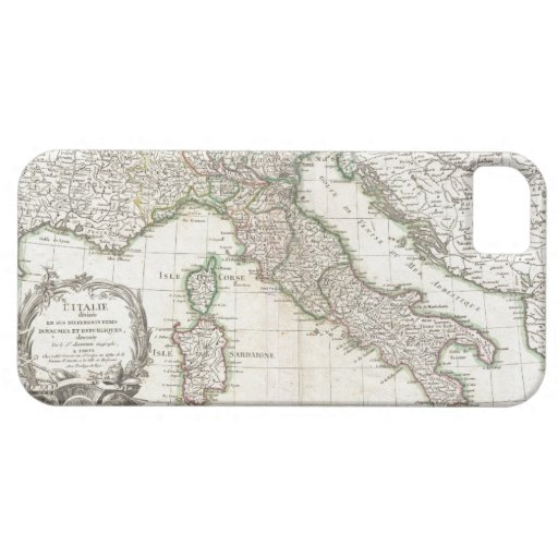 Vintage Map of Italy (1770) iPhone 5 Case