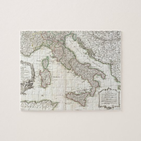 Vintage Map of Italy (1770) Jigsaw Puzzle