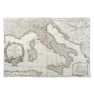 Vintage Map of Italy (1770) Place Mats