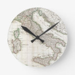 Vintage Map of Italy (1770) Round Clock