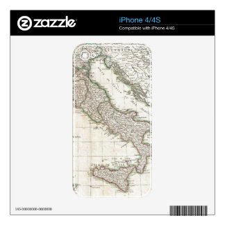 Vintage Map of Italy (1770) Skin For The iPhone 4