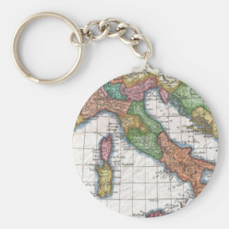 Vintage Map of Italy (1780) Basic Round Button Keychain