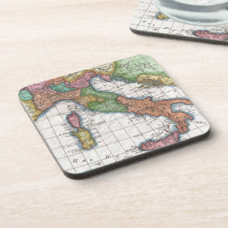 Vintage Map of Italy (1780) Drink Coasters