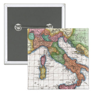 Vintage Map of Italy (1780) Pinback Button