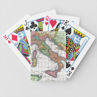 Vintage Map of Italy (1780) Poker Cards