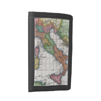 Vintage Map of Italy (1780) Trifold Wallet