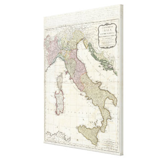 Vintage Map of Italy (1794) Canvas Print
