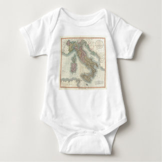 Vintage Map of Italy (1799) Baby Bodysuit