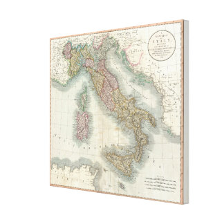 Vintage Map of Italy (1799) Canvas Print