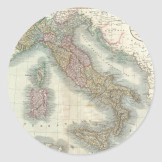 Vintage Map of Italy (1799) Classic Round Sticker